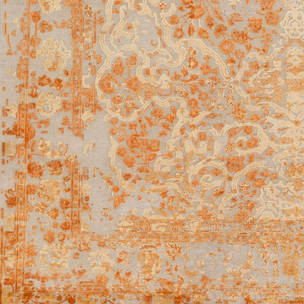 Hanrahan Hand-Knotted Orange Area Rug by Darby Home Co