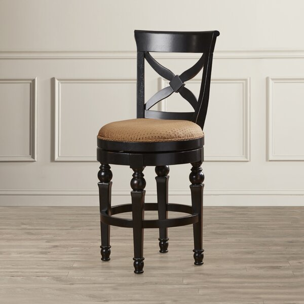 Rundell 26 Swivel Bar Stool with Cushion by Darby Home Co