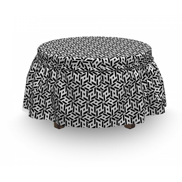 Cubical Forms Ottoman Slipcover (Set Of 2) By East Urban Home