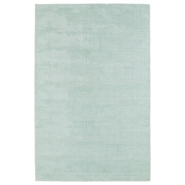 Claverham Hand Woven Wool Mint Area Rug by Wade Logan