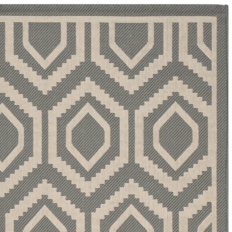 safavieh innen und au enteppich courtyard in grau elfenbein bewertungen. Black Bedroom Furniture Sets. Home Design Ideas