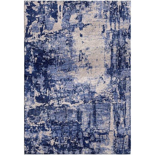 Ashford Handloom Blue/Gray Area Rug by Ivy Bronx