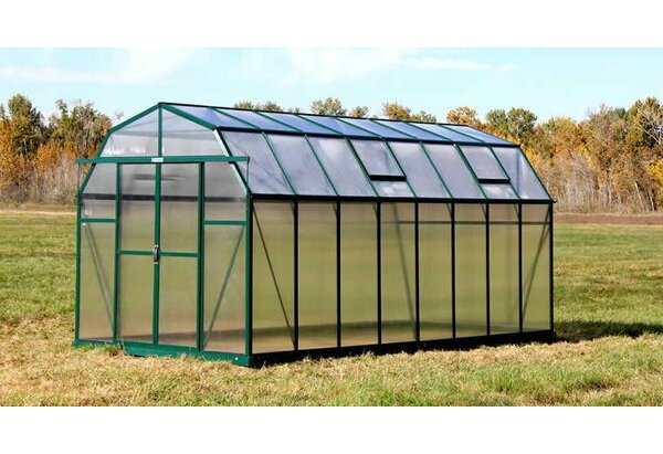 Elite Heavy-Duty Aluminum 8 Ft. W x 16 Ft. D Greenhouse by Grandio Greenhouses