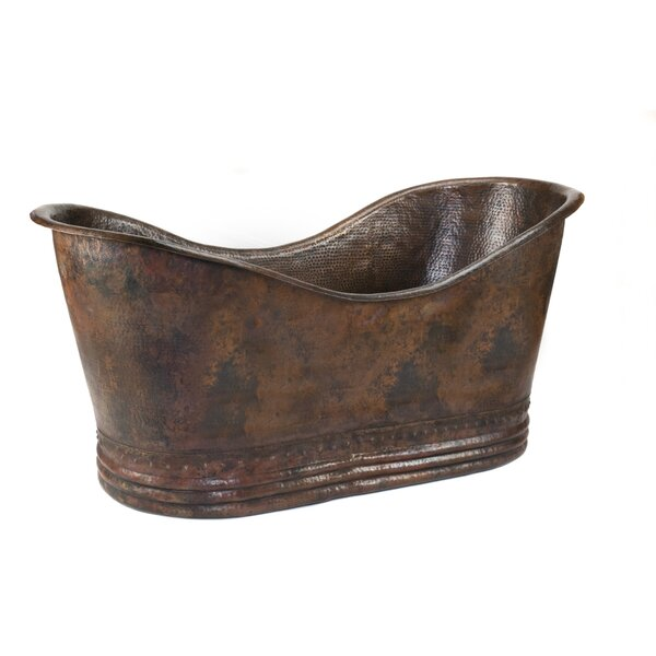 67 x 32 Hammered Copper Double Soaking Bathtub by Premier Copper Products
