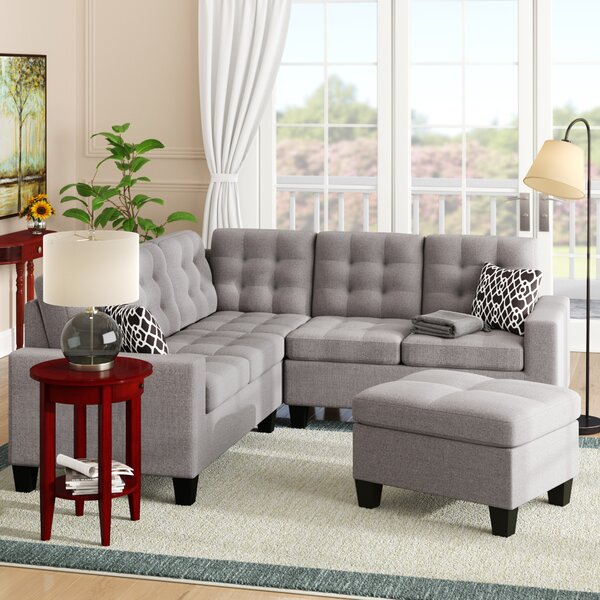 Pawnee Symmetrical Sectional With Ottoman By Andover Mills