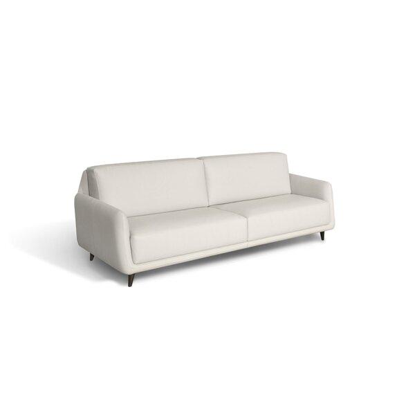 Lasley Leather Sofa By Orren Ellis