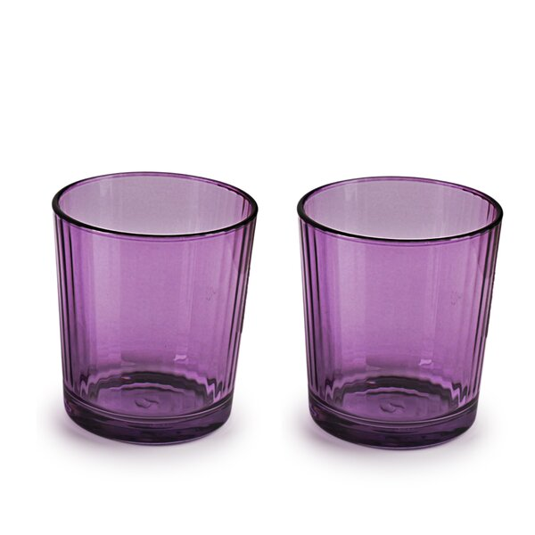 Elkin Plum Spectrum DOF 13 oz. Glass Every Day Glass (Set of 4) by Ebern Designs