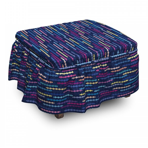 Abstract Circle Ottoman Slipcover (Set Of 2) By East Urban Home