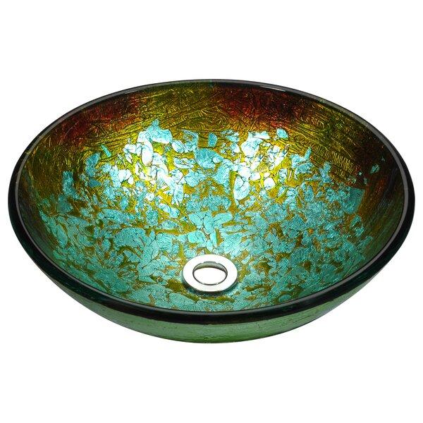 Stellar Series Glass Circular Vessel Bathroom Sink by ANZZI
