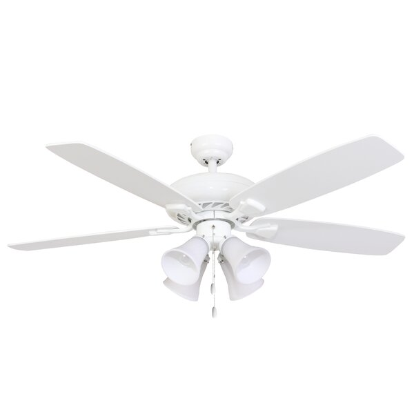 52 Carol 4-Light 5-Blade Ceiling Fan by Charlton Home
