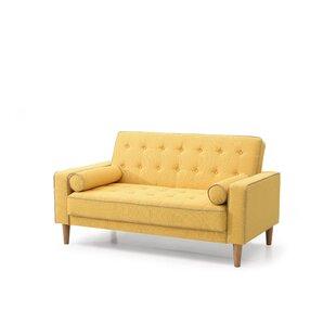 Favorite Mustard Yellow Loveseat | Wayfair TE43