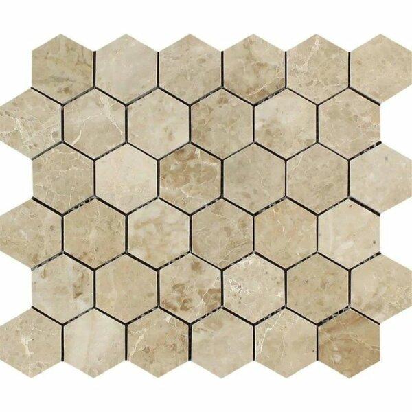 2 x 2 Marble Honeycomb Mosaic Wall & Floor Tile