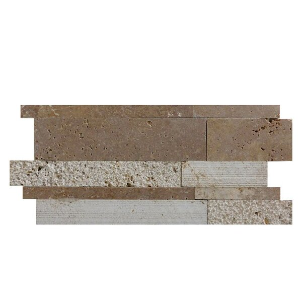 Salix Natural Stone Mosaic Tile in Noce by QDI Surfaces
