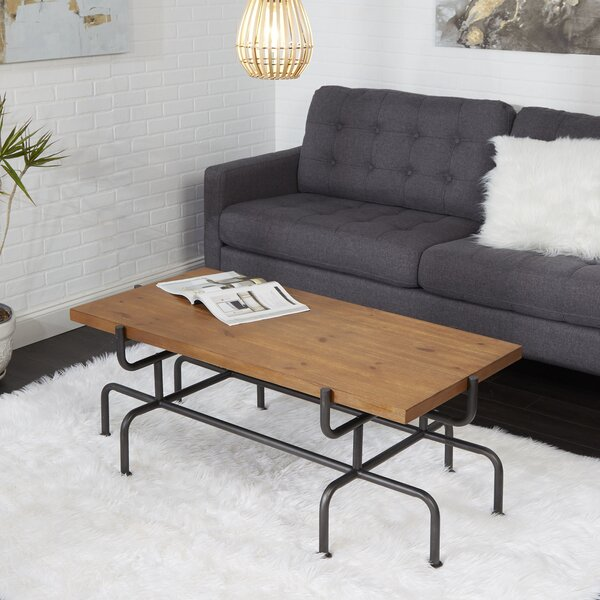 Remillard Metal Pipe Fitting Coffee Table by Williston Forge
