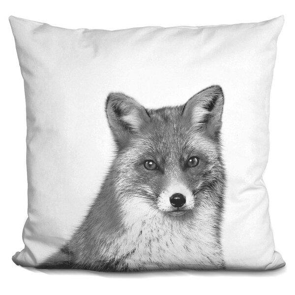 Holderman Fox Throw Pillow by Wrought Studio