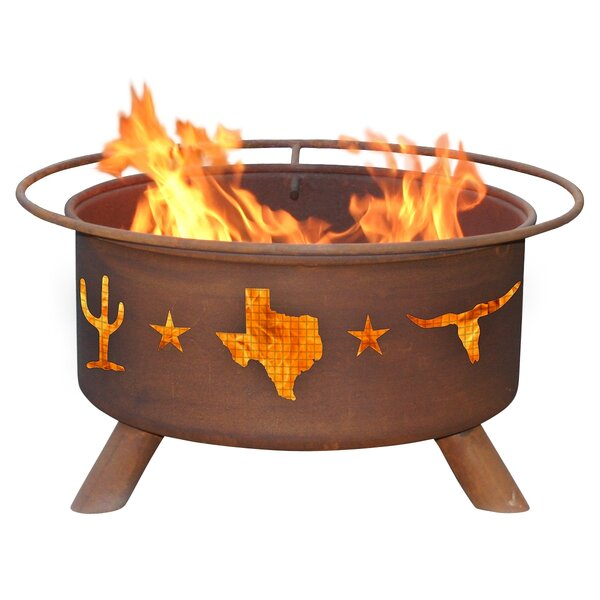 Classic Lone Star Steel Wood Burning Fire Pit by Patina Products