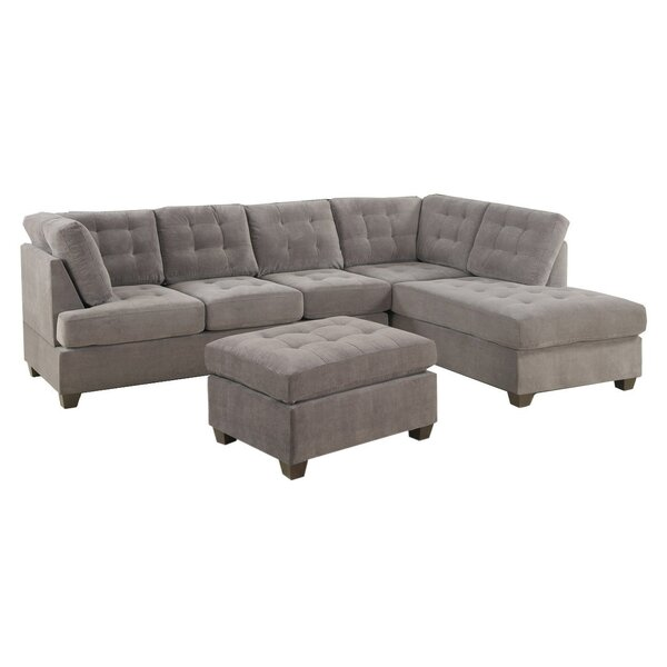 #2 Worksop Sectional With Ottoman By Ebern Designs Today Only Sale