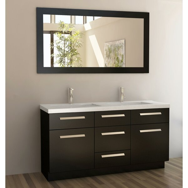 Arnette 60 Double Bathroom Vanity Set with Mirror by Mercury Row