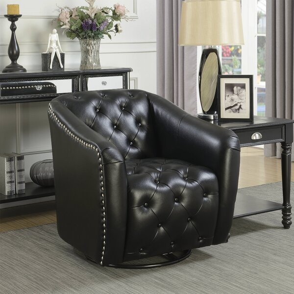 Groveport Swivel Barrel Chair by Alcott Hill