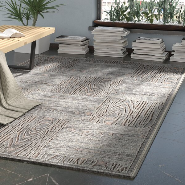 Horton Gray & Tan Area Rug by Ebern Designs