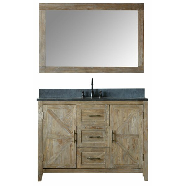 Alamo 48 Single Bathroom Vanity Set with Mirror by Laurel Foundry Modern Farmhouse