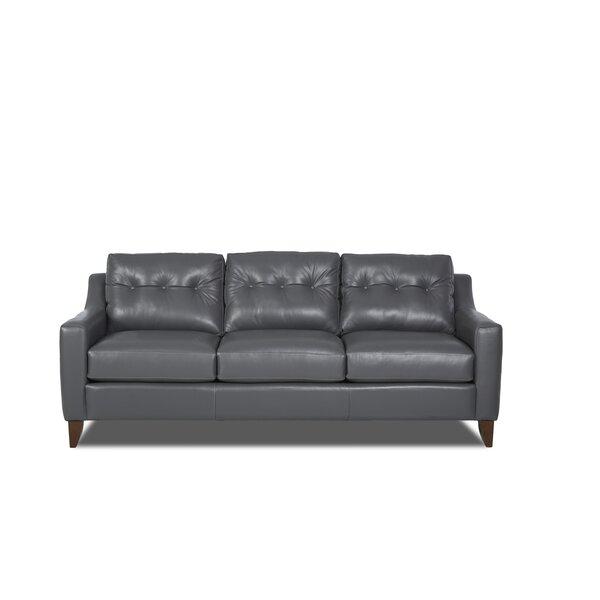 Ciccone Leather Sofa by Brayden Studio