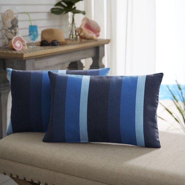 Larissa Indoor/Outdoor Lumbar Pillow (Set of 2) by Breakwater Bay