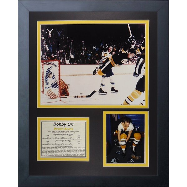 Bob Orr Game Winning Goal Framed Memorabilia by Legends Never Die