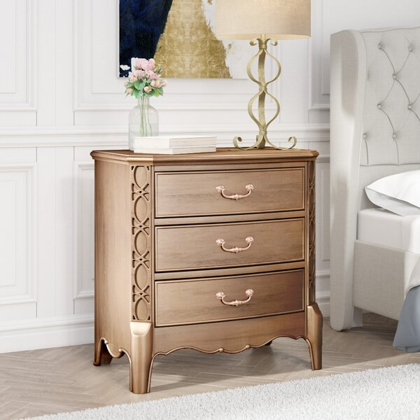 Gisella 3 Drawer Nightstand by Willa Arlo Interiors