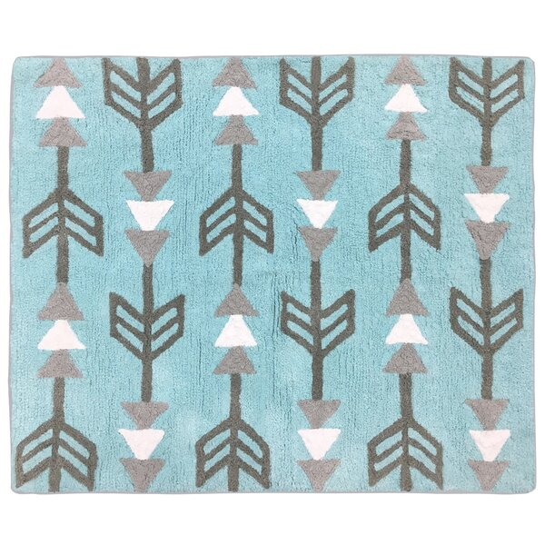 Earth and Sky Hand-Tufted Blue/Gray/White Area Rug by Sweet Jojo Designs