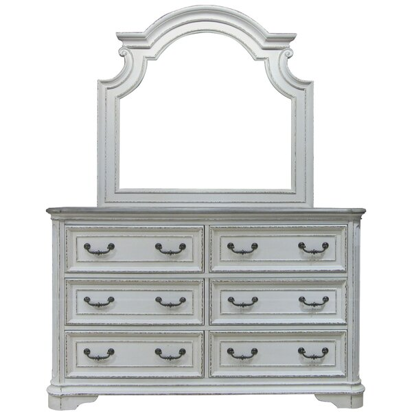 Aracely 6 Drawer Chest with Mirror by One Allium Way
