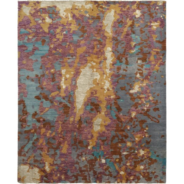 One-of-a-Kind Dunnock Hand-Knotted Wool Pink/Gray Indoor Area Rug by Brayden Studio