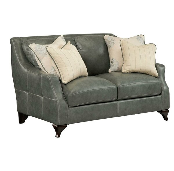 Broadcommon Leather Loveseat by Darby Home Co