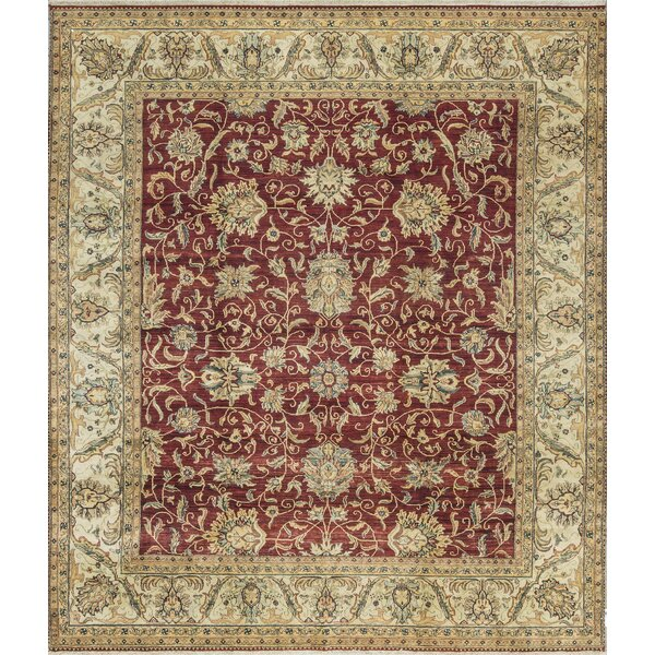 One-of-a-Kind Hand-Knotted Wool Red/Beige Indoor Area Rug by Bokara Rug Co., Inc.