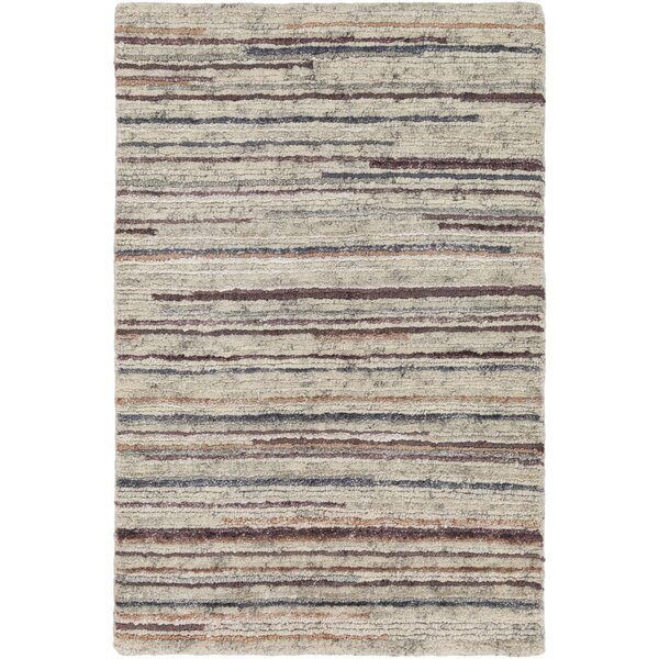 Bolger Hand-Knotted Peach/Burnt Orange Area Rug by Red Barrel Studio
