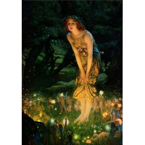 'Midsummer Eve, C.1908' by Edward Robert Hughes Painting Print on Canvas by iCanvas