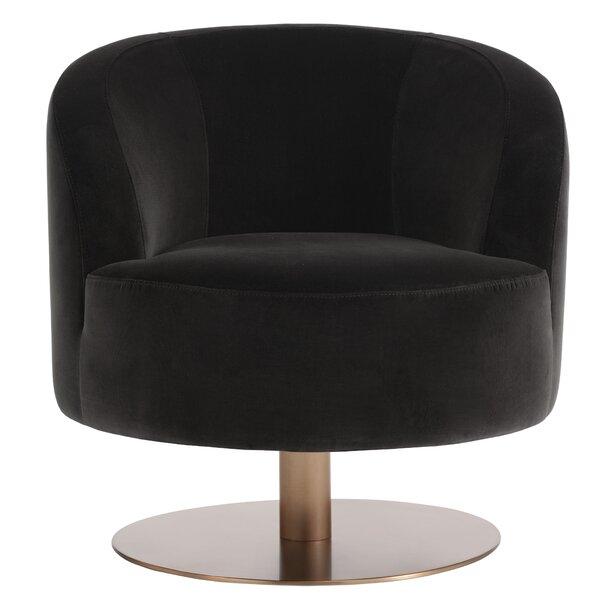 Leclair Swivel Club Chair By Everly Quinn