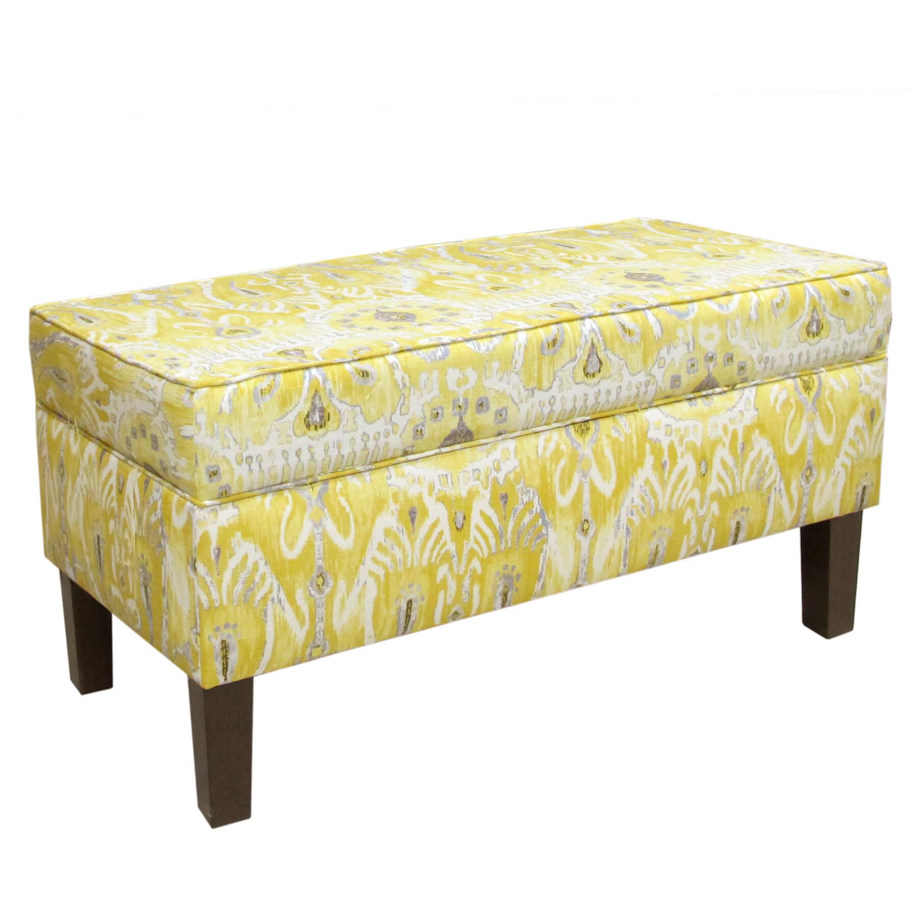 Skyline Furniture Storage Fabric Storage Bench U0026 Reviews | Wayfair