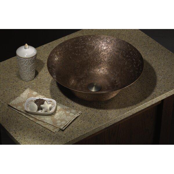 Copper Metal Circular Vessel Bathroom Sink by Lenova