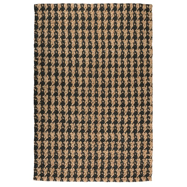 Dogtooth Handspun Jute Black Area Rug by Kosas Home