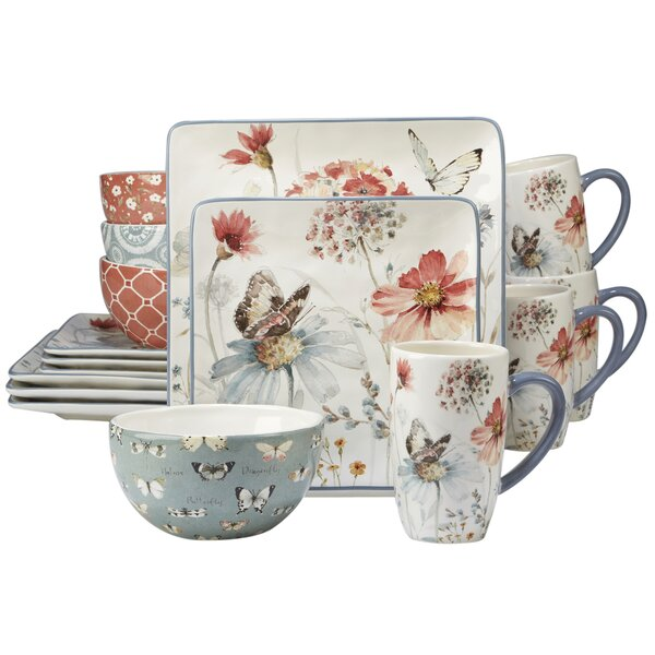 Fullen 16 Piece Dinnerware Set, Service for 4 by A