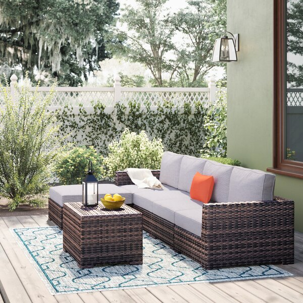 Letona Resort 3 Piece Sectional Seating Group with Cushions