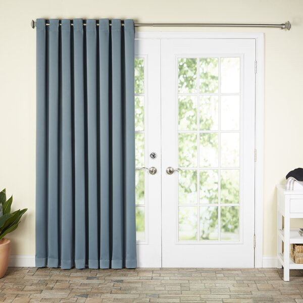 Wayfair Basics Wayfair Basics Solid Blackout Grommet Extra Wide Patio Door Curtain Panel