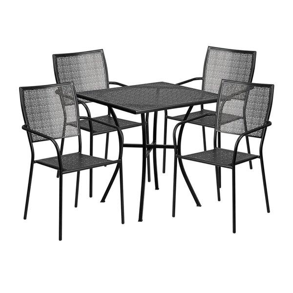 Speece Outdoor Steel 5 Piece Dining Set by Winston Porter