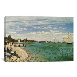 Regatta at Sainte-Adresse 1867 by Claude Monet Painting Print on Canvas by Charlton Home