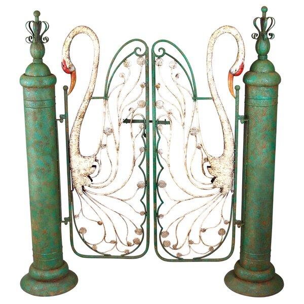 Swan Serenade Entryway Metal Garden Gate by Design Toscano