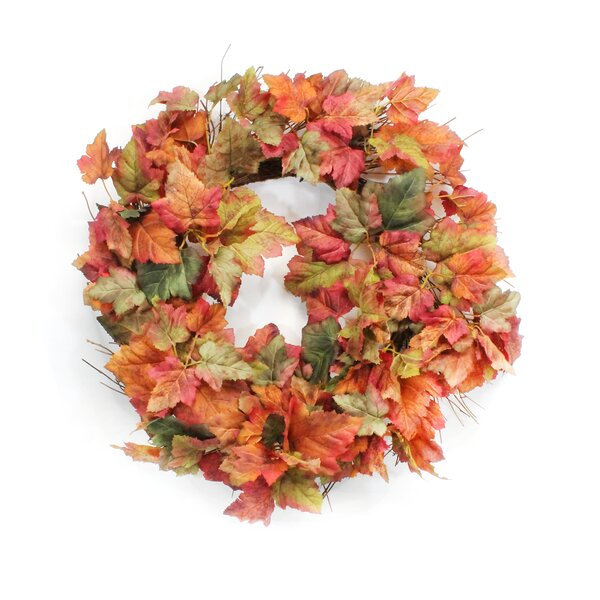 Fall Leaf Wreath by Dalmarko Designs