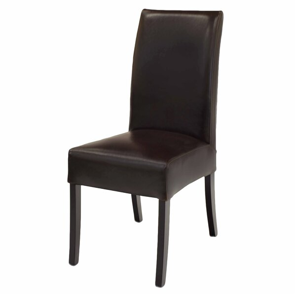 Bartram Genuine Leather Upholstered Dining Chair (Set of 2) by Red Barrel Studio