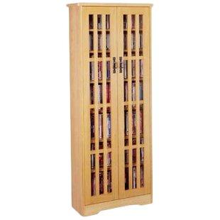 Glass Door Tall Multimedia Cabinet