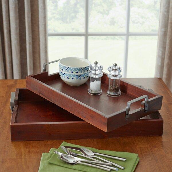 Olsen 2 Piece Serving Tray Set by Three Posts